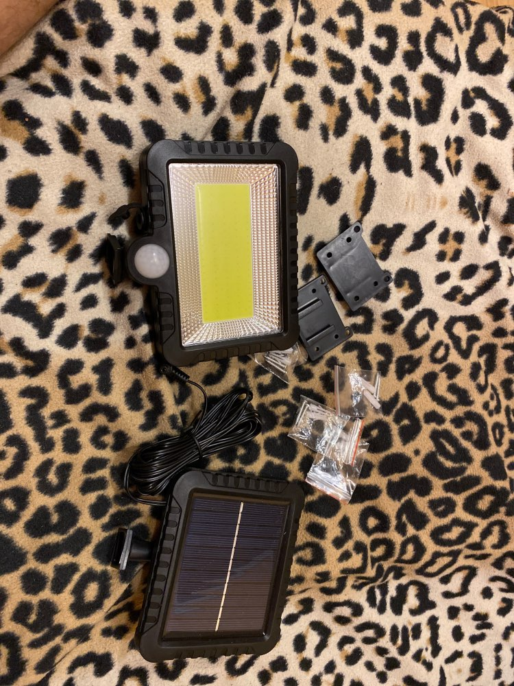 Solar Power LED Wall Lamp 56/100Leds PIR Motion Sensor Waterproof Spotlight Indoor Outdoor Floodlight Garden Light with 5M Cable
