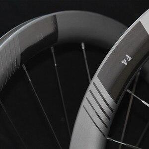 F4D колеса дисковый тормоз Clincher бескамерная карбоновая дорога 45 мм 50 мм 38 мм 60 мм карбоновый диск-тормоз спица + ступицы дорога-велосипед-коле...