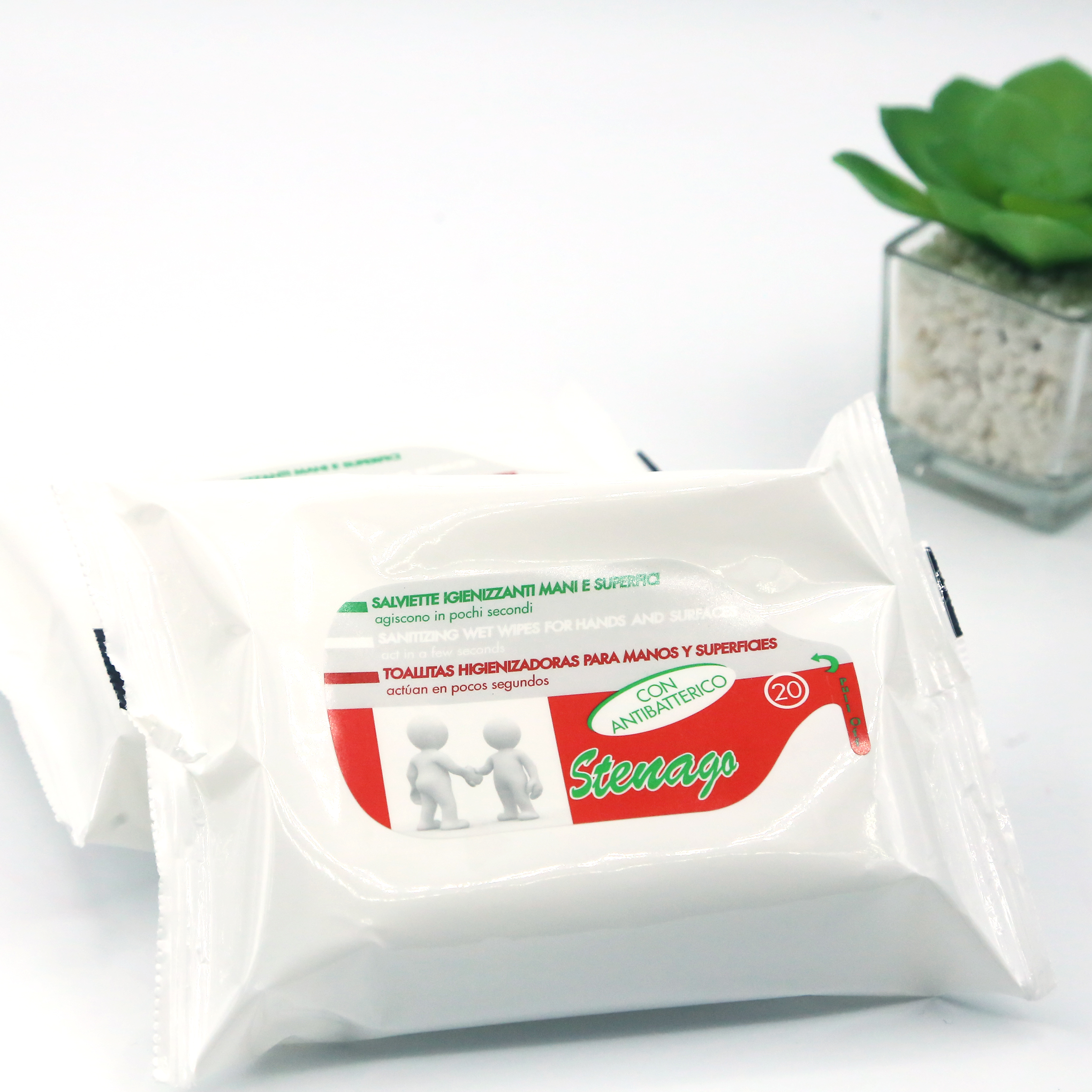 Towels Higienizadoras For Hands And Surfaces With Antibacterial Alcohol Sanitizer