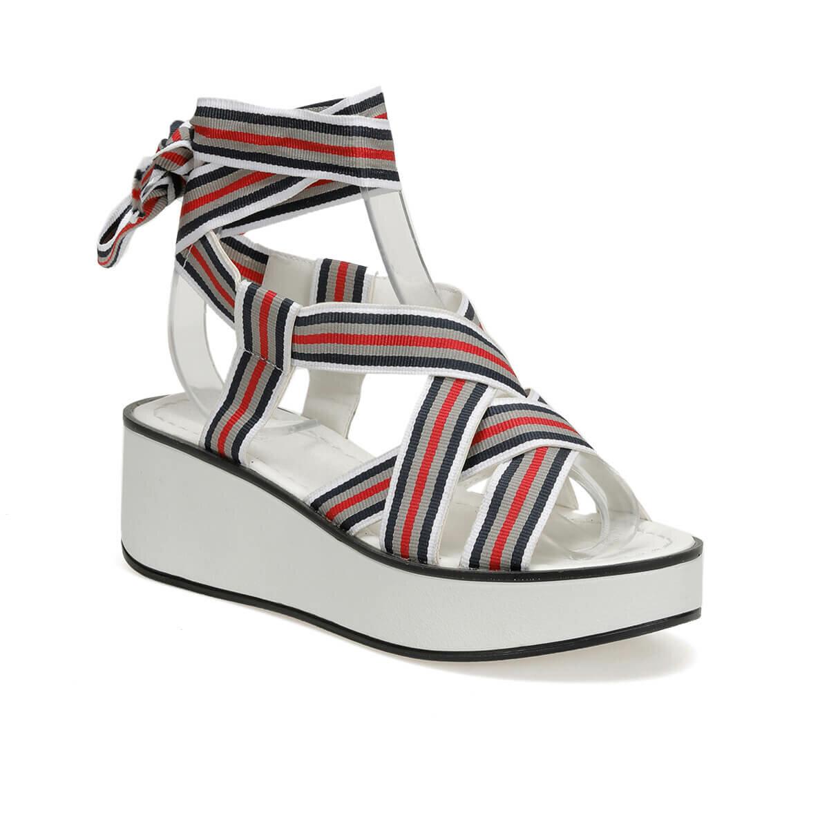 FLO CS19136 White Women Sandals Art Bella