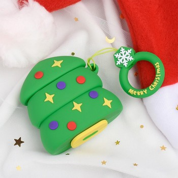 Xmas Soft Silicone Cases For Apple Airpods 1/2 Protective Bluetooth Wireless Earphone Cover For Apple Air Pods Charging Box Bags image