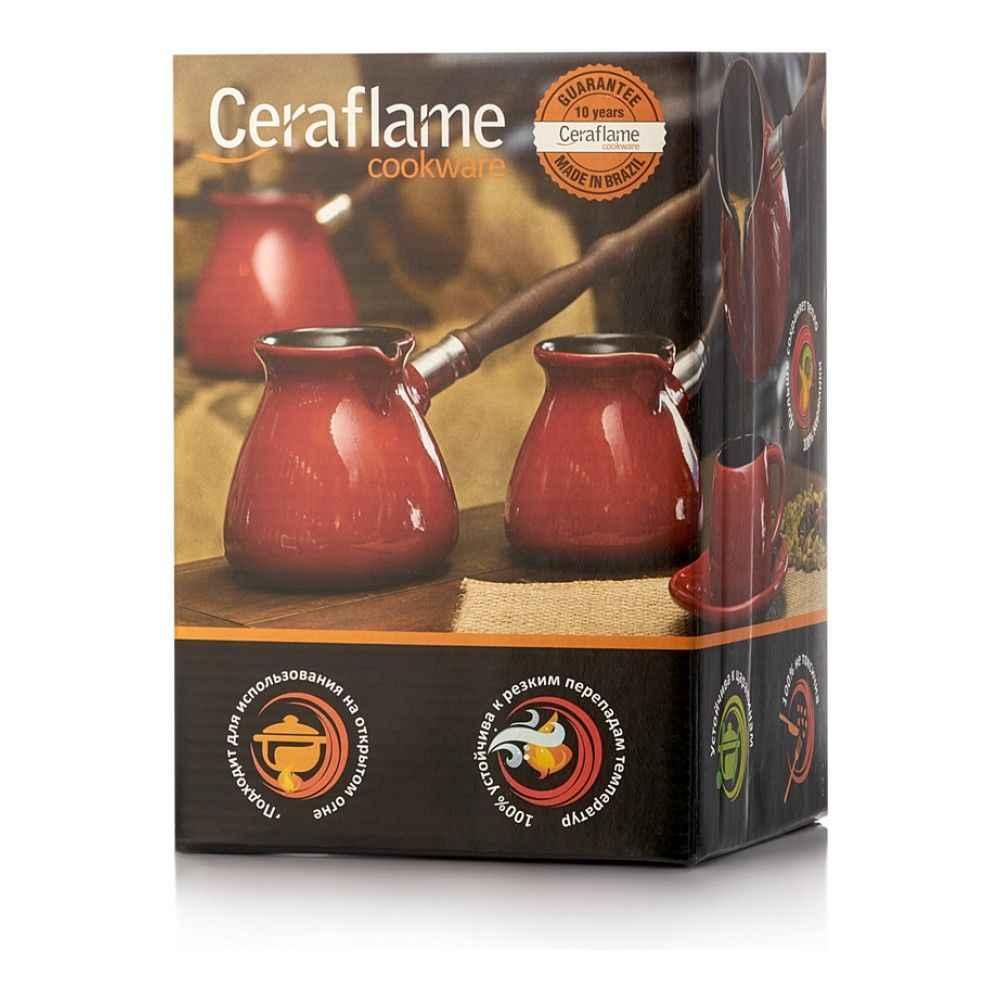 Турка керамическая Ceraflame Ibrik New, 0.5л, цвет красный, D93716