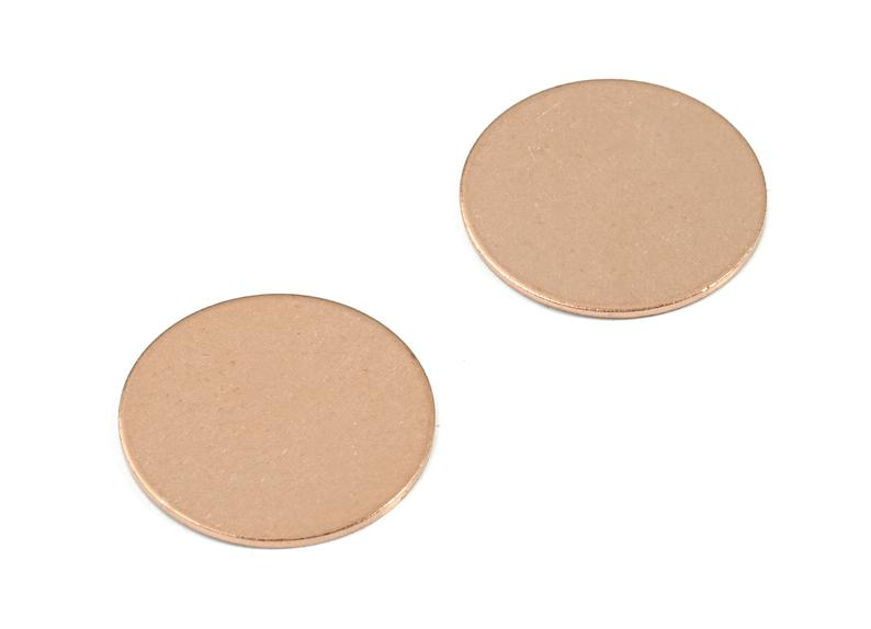 Copper Round Blank - Raw Copper Circle Stamping Blank - 4Pcs/Lot - Jewelry Supplies - 20.06x20.06x0.86mm - PP3398