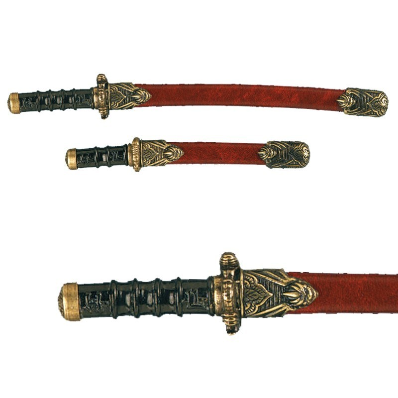 Set Of 2 Samurai Mini-weapons With Scabbard