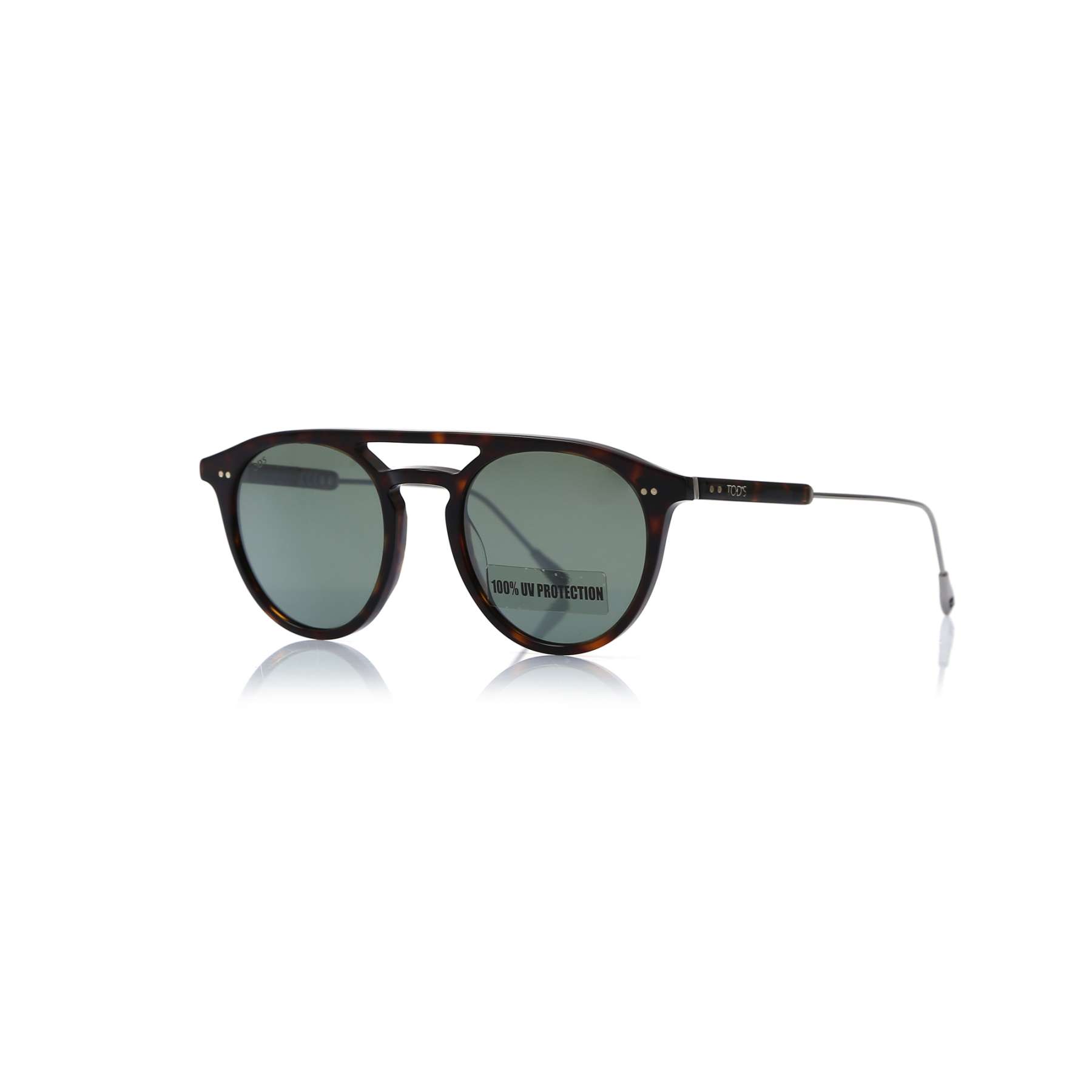 Unisex sunglasses to 0219 52c bone Brown organic oval aval 49-20-145 tods