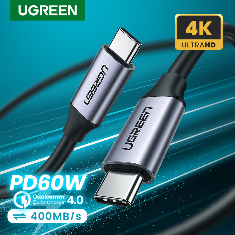 Ugreen USB 3.1 Type C to USB C Cable for Samsung S9 S8 Note 9 8 PD 60W Quick Charge 4.0 USB C Fast Charger Cable for MacBook Pro|cable usb nokia 6131|usb to db9 serial cableusb cable sleeve - AliExpress