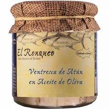 Tuna Ventresca jar in 250 grams olive oil | Fish preserves El Ronqueo | gourmet preserves
