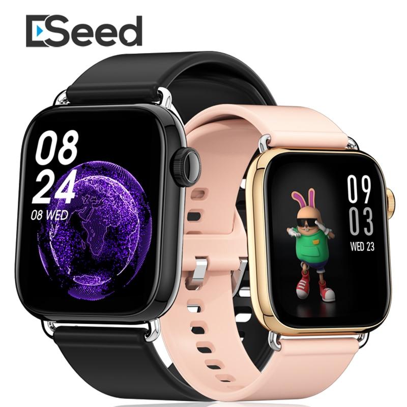 Мужские Смарт-часы ESeed QY03, наручные часы с камерой 1,7 дюйма и пульсометром, спортивные женские часы 2021 для apple Android IOS