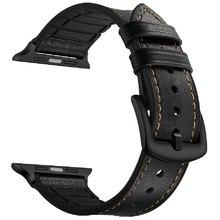 Ремешок для часов Lyambda кожа/силикон для Apple Watch 42/44 mm ANTARES LWA-10-44-BK Black