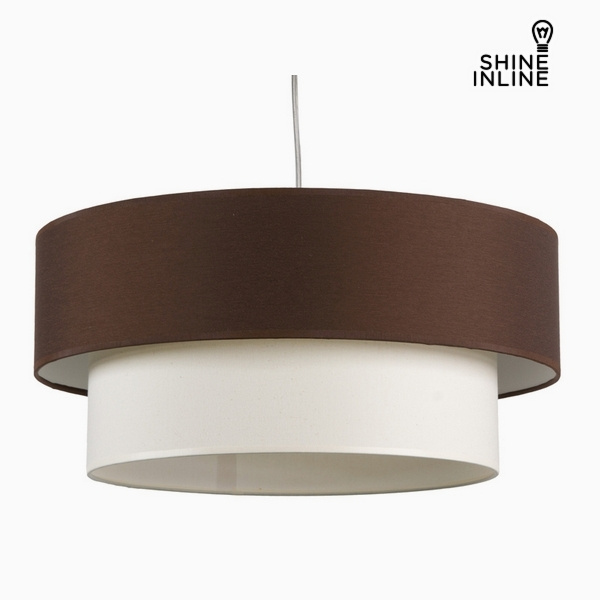 Ceiling Light Brown White Cotton And Polyester (20 Cm) By Shine Inline