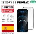 Ультратонкое закаленное стекло для IPhone 12 Pro Max, защита экрана от царапин, набор из 3 предметов, 6,7 дюйма