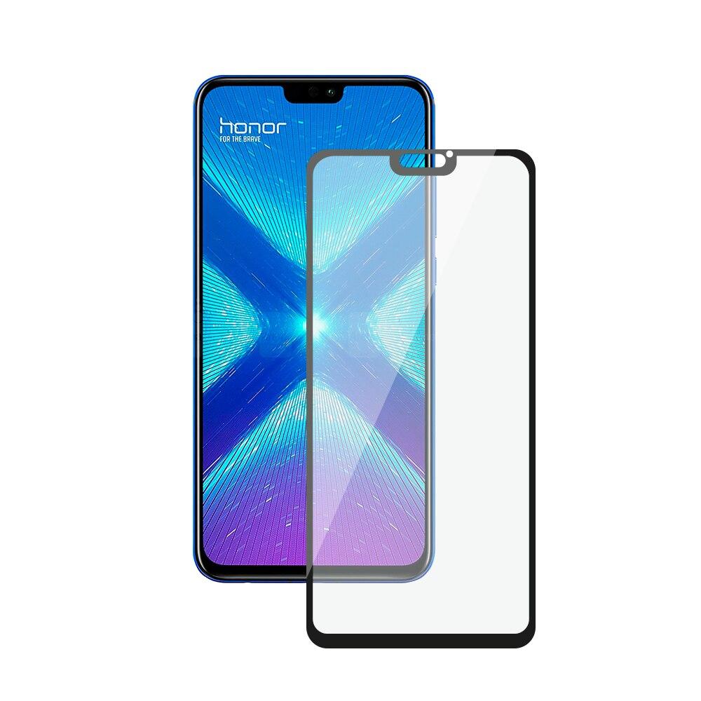 Защитное стекло 3D Full Glue для Honor 8X (2018), полная проклейка, 0.3 мм, Deppa все цены