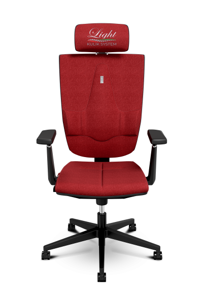 Office Chair KULIK SYSTEM SPACE Extra Red Computer Chair Relief And Comfort For The Back 5 Zones Control Spine