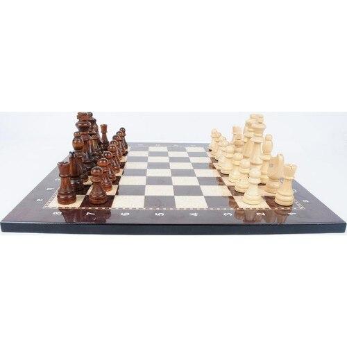 Jeu d'échecs de luxe en bois Figure d'échecs médiévaux - pièces et échiquier de haute qualité 4