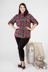 Leggings artessa plus size, to the ankle, with guipure, from viscose.