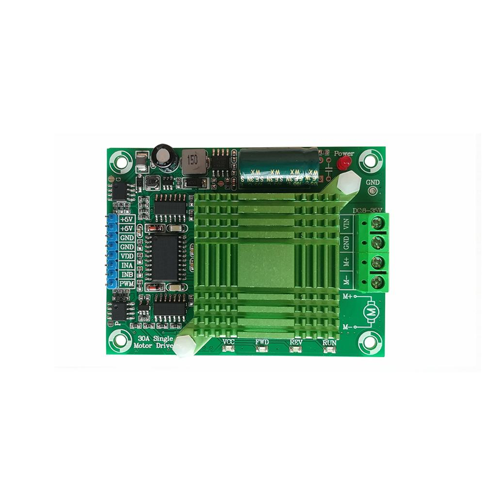 Taidacent 8-35V 30A Full PWM High Power H Bridge DC Motor Driver Forward Reverse Single Phase Separately Excited DC Motor Driver