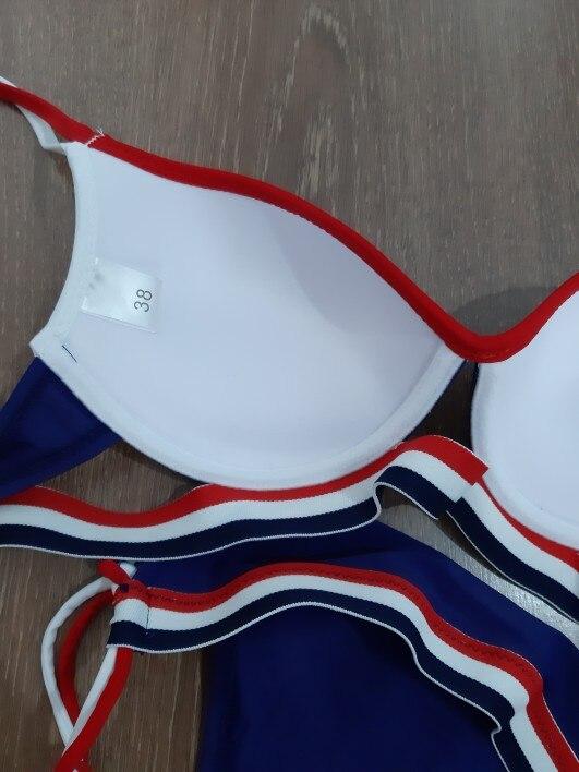 NAKIAEOI 2019 New Arrival Push Up Bikinis Women Halter Underwire Swimsuit Female Patchwork Swimwear Bandage Bathing Suits Swim|Bikini Set|   - AliExpress