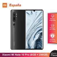 Xiaomi Mi Note 10 PRO (256GB ROM, 8GB RAM, Cámara 108 MP, Android, Nuevo, Libre) [Teléfono Movil Versión Global para España] note10pro