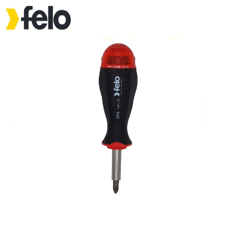 Felo Screwdriver with a magnetic holder for bits with a set of bits 8pcs 37320805 Power tool bits One-sided  For screwdriver 6 90degree 0 3mm diamond bits with high quality used for cnc router machine