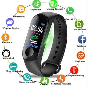 M3 Смарт-часы браслет IP67 Водонепроницаемый фитнес-трекер для занятий спортом монитор сердечного ритма здоровье смарт-браслет для мужчин и ж...