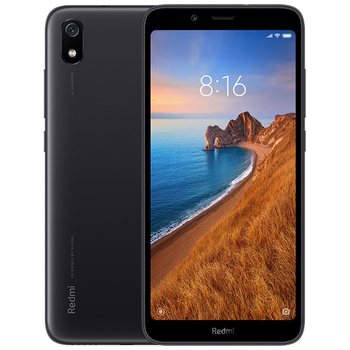 Перейти на Алиэкспресс и купить Xiaomi Redmi 7A, черный цвет (черный), 32 ГБ внутренней памяти 2 Гб оперативной памяти, две sim-карты, глобальная версия, HD экран 5