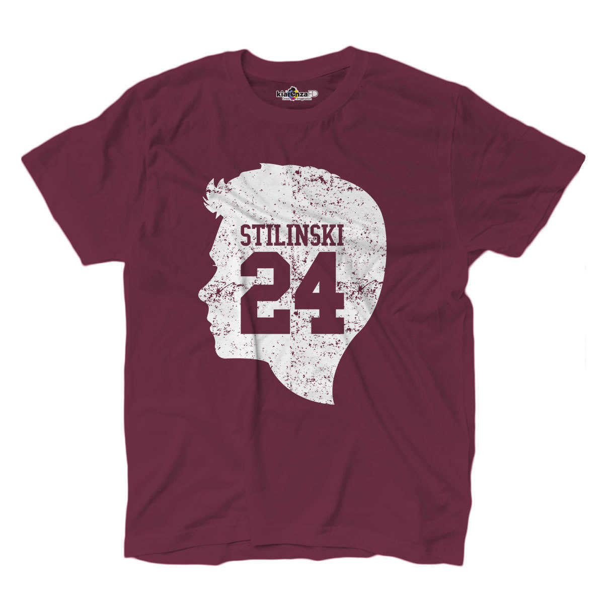 T-shirt Beacon Hill Face Lacrosse Stilinski Teen Movie Wolf TV Series S Burgundy image