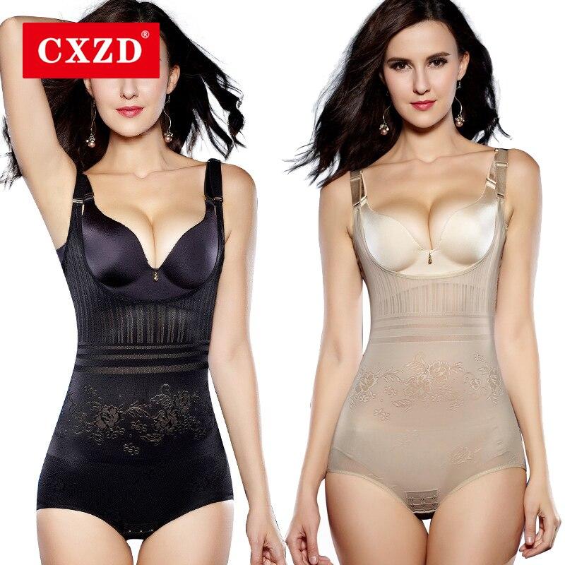 CXZD Women Body Shaper Post Natal Postpartum Shapewear Slimming Underwear Bodysuits Waist Corset Push Up Vest Tummy Corset(China)