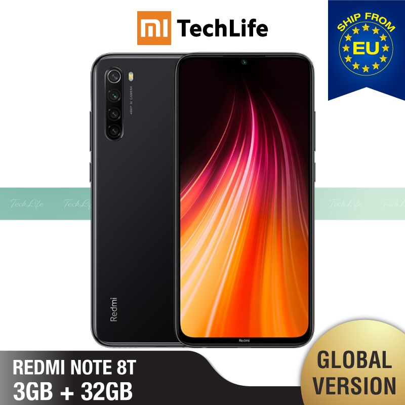 Global Version Xiaomi Redmi Note 8T 32GB ROM 3GB RAM (Brand New / Sealed) Note 8 T, Note8t, Note 8