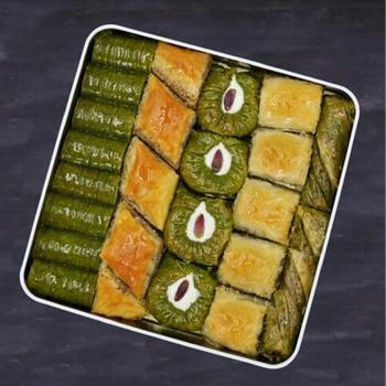 Tradycyjne świeże pyszne premium mieszane turecki baklawa z pistacjami i orzechami Deser turecki deser Baklava pistacje tanie i dobre opinie HAFIZ MUSTAFA TR (pochodzenie) Gotowanie pochodnie Deser narzędzia