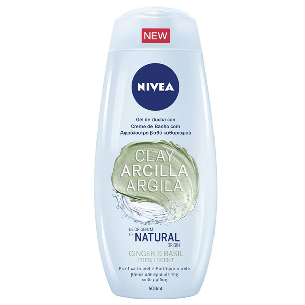 Shower Gel Arcilla Ginger & Basil Nivea (500 Ml)
