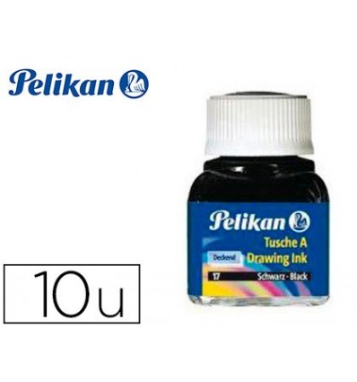CHINESE INK PELIKAN ASSORTED COLORS FLASK 10 ML 10 Pcs