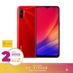 [Версия гарантии официальный испанский] Realme C3 3 + 64 ГБ, MediaTek Helio G70,6,5 дюйма HD + разрешение, двойная камера, Android 10