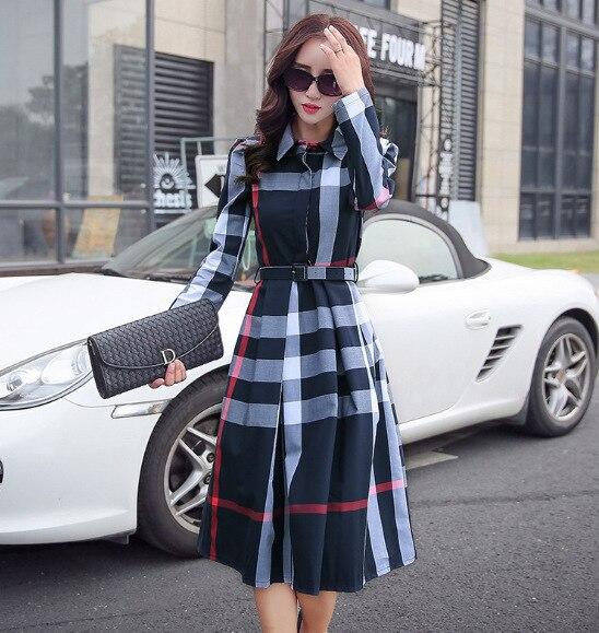 Women Fashion Elegant A-Line Dresses Female Full Sleeve Street Sweet Midi Dress Vestidos 3