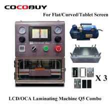 OCA Film LCD Refurbish Vacuum Laminating Machine For Samsung Flat Edge Tablet Screen Glass Replace Novecel Q5 Laminator Combo цены
