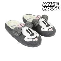 Casa chinelos minnie mouse cinza