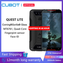 Cubot Quest Lite Sport Robuste Telefon IP68 smartphone ohne vertrag MT6761 Handy 3 GB + 32GB 3000mAh Android 9.0 Pie outdoor smartphone 5 zoll 4G LTE Dual Kamera 13MP Typ C Gesicht ID android smartphone Face ID