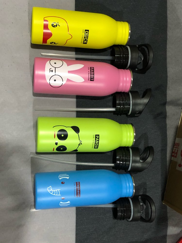 500ML Cute Portable Stainless Steel For Outdoor Sports Bottle Travel Camping Cold Kettle Hiking Cycling Accessiores For Kids-in Water Bottles from Home & Garden on AliExpress