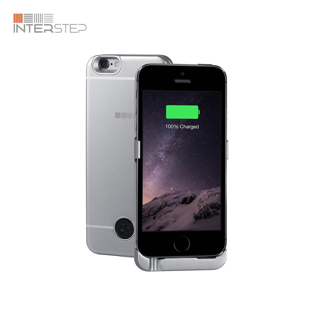 Case battery INTERSTEP for iPhone 5/SE, 2200 mAh, Gray oasis argentum 2200 mah