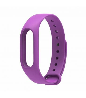 Replacement Silicone Strap For Watch Bracelet Xiaomi My Band 2 Color Purple