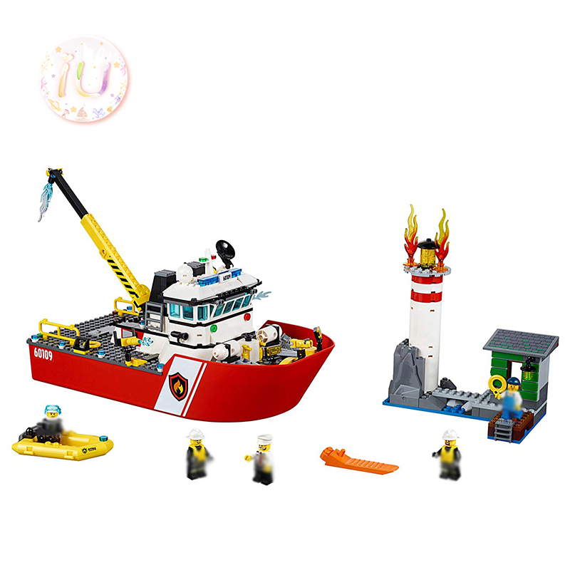 BELA 10830 City Series Fire Boat Model Building Blocks Compatible <font><b>60109</b></font> Birthday Gifts DIY Educational Toys For Children 450Pcs image