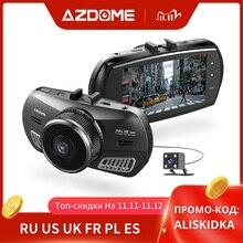 Azdome M11 3 Inch 2.5D Ips Scherm Dash Cam Auto Dvr Recorder Hd 1080P Dual Lens Auto Video Dashcam nachtzicht Gps Dash Camera