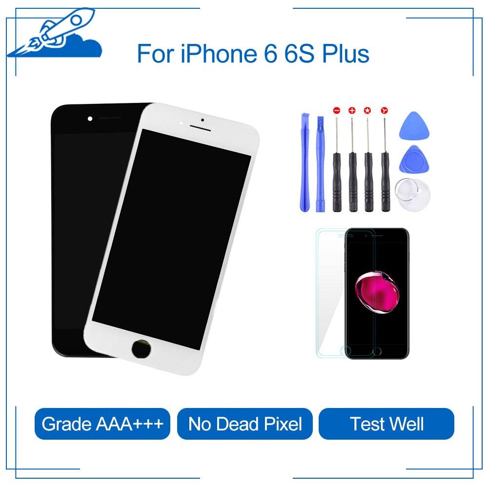 Elekworld sınıf iphone 6 6S artı LCD dokunmatik Digitizer ekran takımı değiştirme için iphone 5S tabela ekranlar