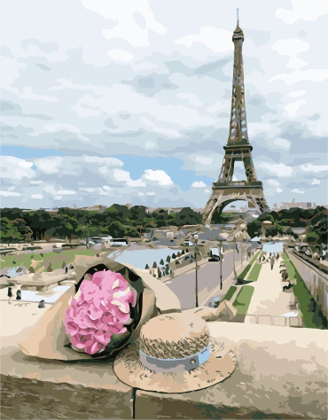Painting By Numbers PK 48024 Paris Bouquet 40*50