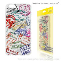 FunnyTech®Stand case for BQ Aquaris Silicone V/VS L Sellos Travellers vers. Clear