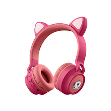 Cute Cat Ear Headset Wireless Bluetooth LED Headphone foldable Cosplay cat