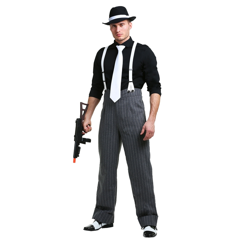Quality Mens Mafia Underboss  Cosplay Costume 1920's Style Gangster Costume Halloween
