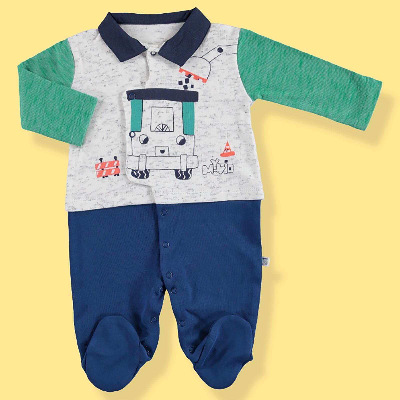 Ebebek Mymio Summer Baby Boy Scoop Interlock Snaps Neck Romper