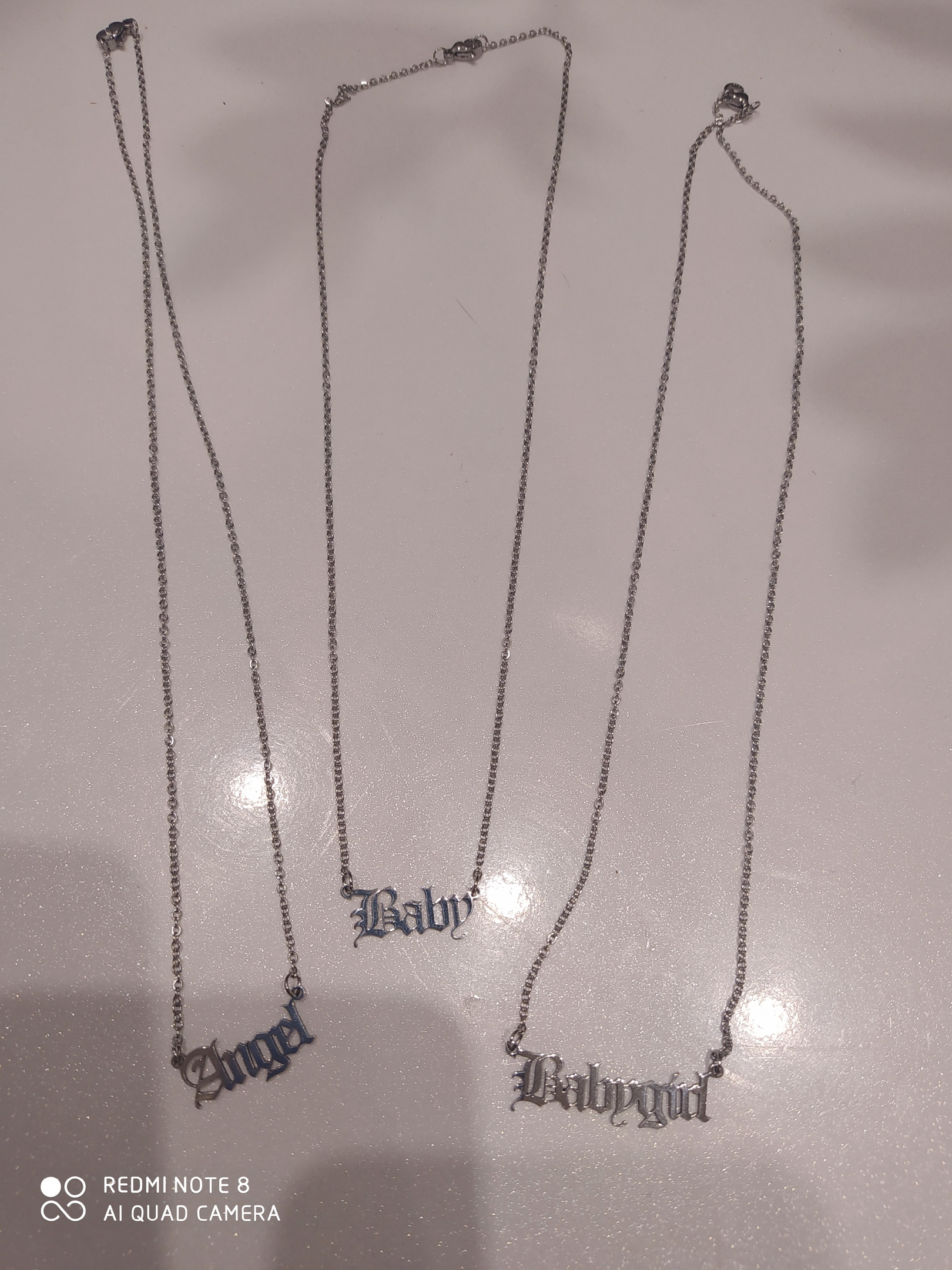 Personalized Old English Font Name Necklace photo review