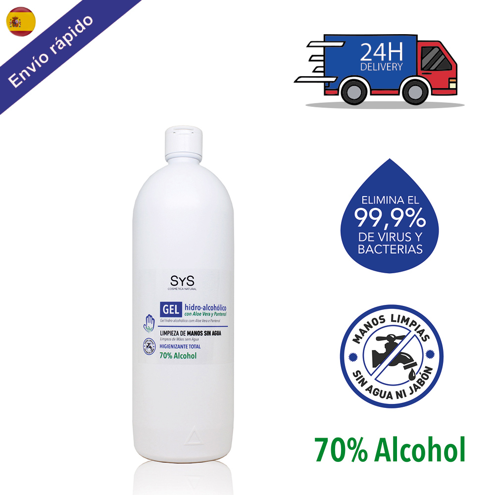 GEL HIDROALCOHOLICO Hands 1 Liter/sanitizer-ANTISEPTICO-cleaning Hands-on ALCOHOL And ALOE VERA