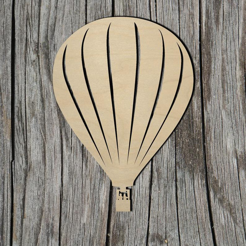 Hot Air Balloon - Laser Cut Unfinished Wood Cutout Shapes